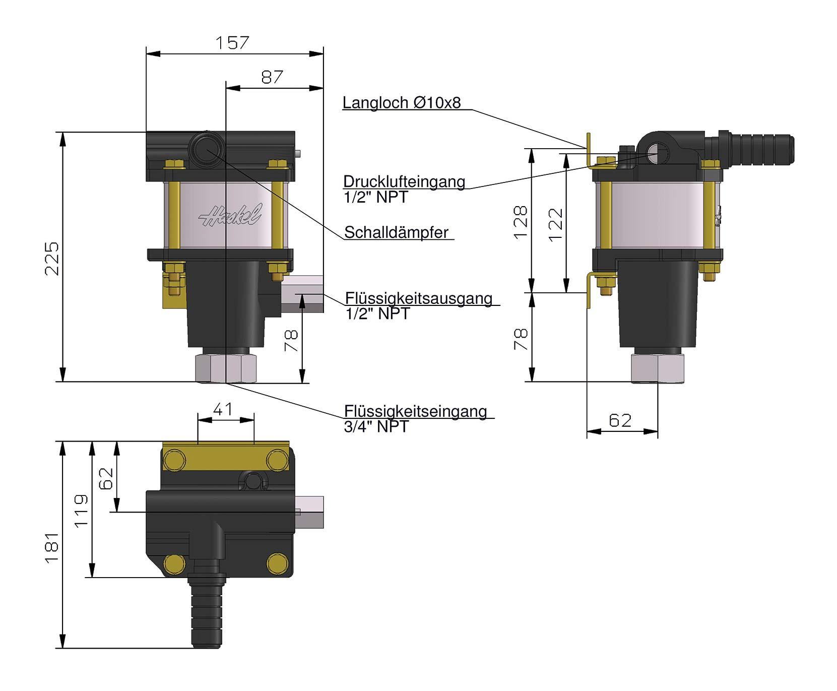 Maßblatt - 4-Zoll-Pumpe