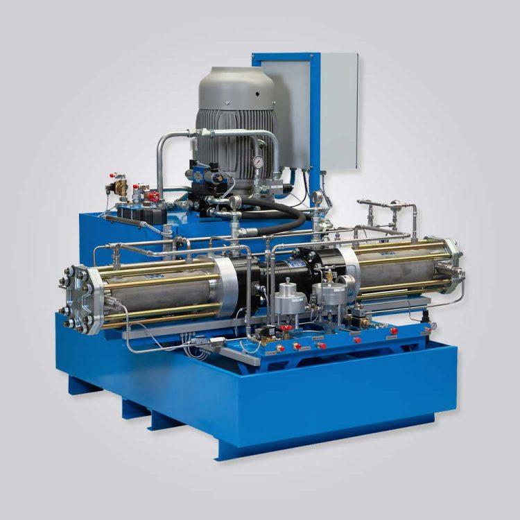 HD-tech - Hydraulisch angetriebener Gaskompressorstation - HGT-90-63 – 850 bar