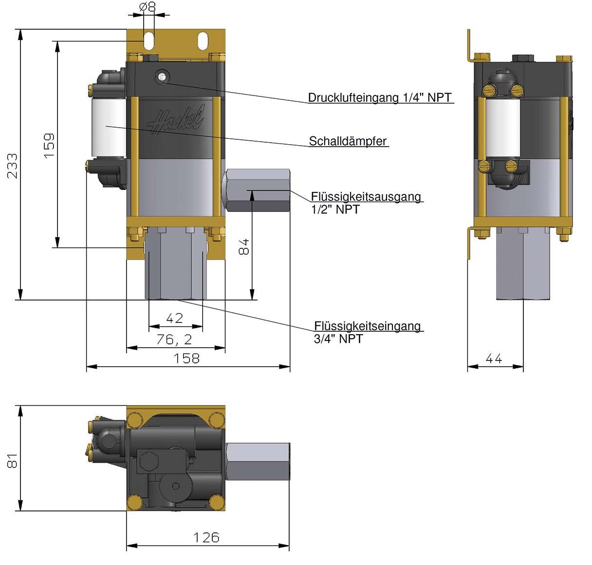 Maßblatt - Minipumpe M-7