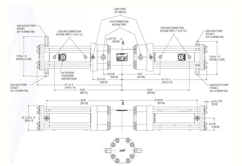 Haskel - H-Drive - Gaskompressor - HGT-150/63 - Massblatt