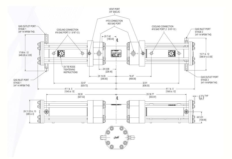 Haskel - H-Drive - Gaskompressor - HGT-150/90 - Massblatt