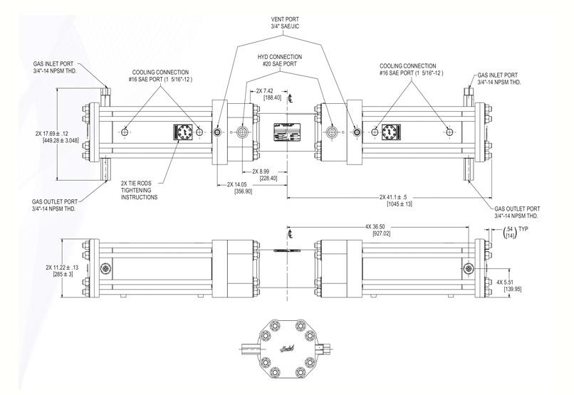 Haskel - H-Drive - Gaskompressor - HGD-150 - Massblatt
