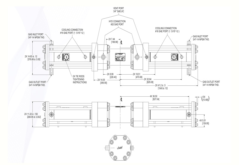 Haskel - H-Drive - Gaskompressor - HGD-63 - Massblatt