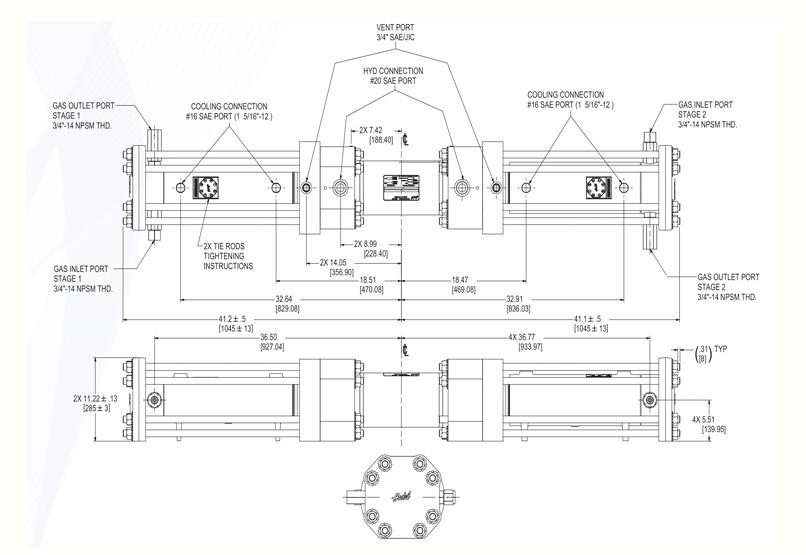 Haskel - H-Drive - Gaskompressor - HGT-90/63 - Massblatt
