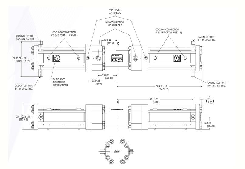 Haskel - H-Drive - Gaskompressor - HGD-90 - Massblatt