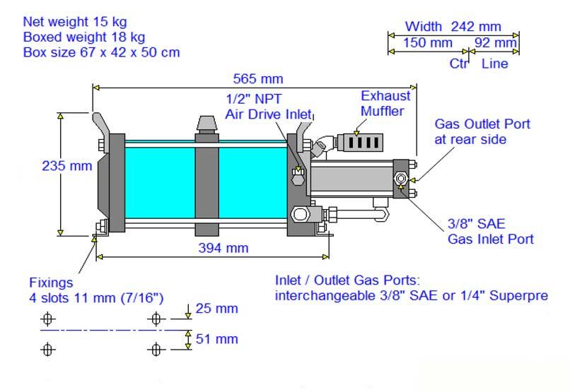 HD-tech - Produkte - Gas-Kompressor AG-62 - Haskel - Maßblatt