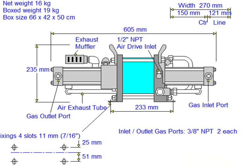 HD-tech - Produkte - Gas-Kompressor AGD-7 - Haskel - Maßblatt