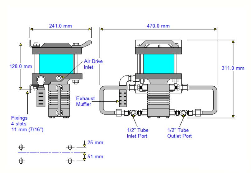 HDTech - Verdichterstation - GB-1004-3 / 58896 - 40 bar - Massblatt
