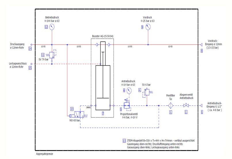 HD-Tech - Komplettanlage Gaskompressor - Verdichterstation - GB-0031-5 AG-15 / 70 bar - Schaltplan
