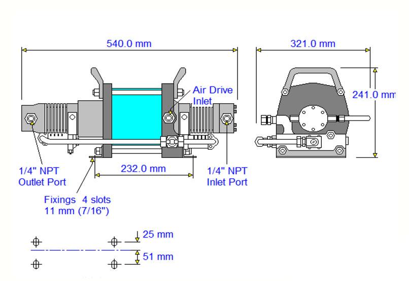 HD Tech - Produkte - Druckluftverstärker - AAT-15/30 - Massblatt