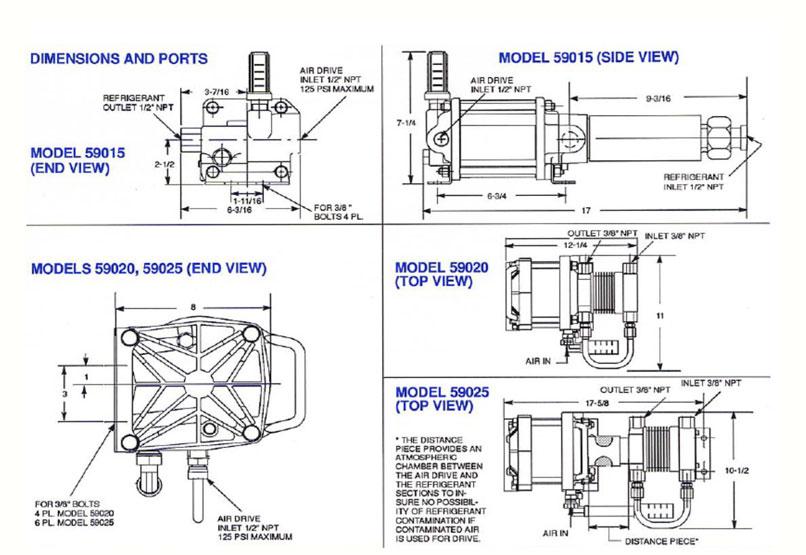 HD Tech - Haskel - Pumpen - 59015 - Konstruktionszeichnung