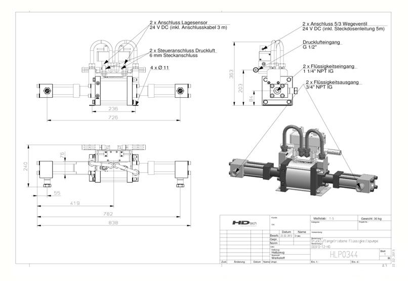 HD Tech - Haskel - Pumpen - DGSFD-12 - Massblatt