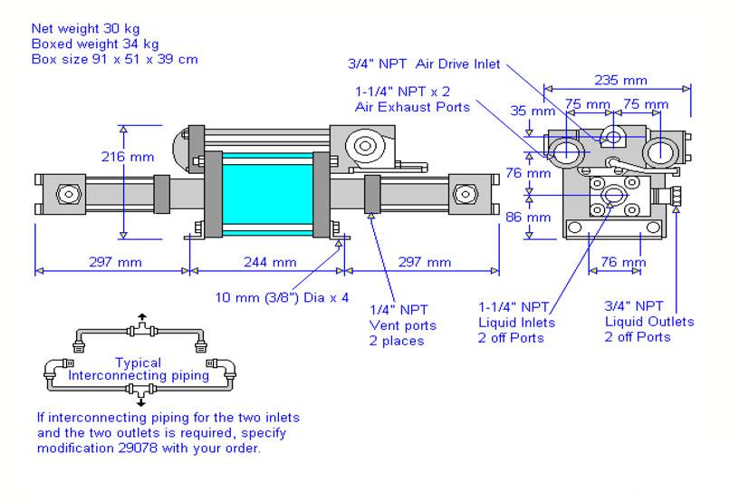 HD Tech - Haskel - Pumpen - TVD-148-Atex-K-ES - Massblatt