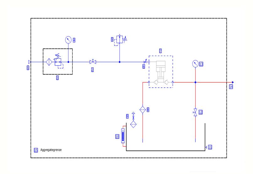 HD Tech - Prüfstand - ASF-100-1000 bar - Schaltplan