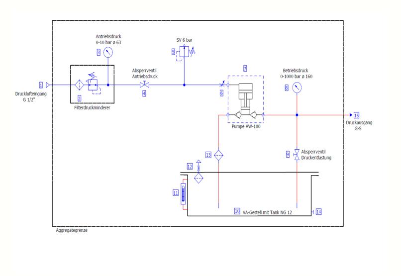 HD Tech - AW-100-630 bar HSL0233 - Schaltplan