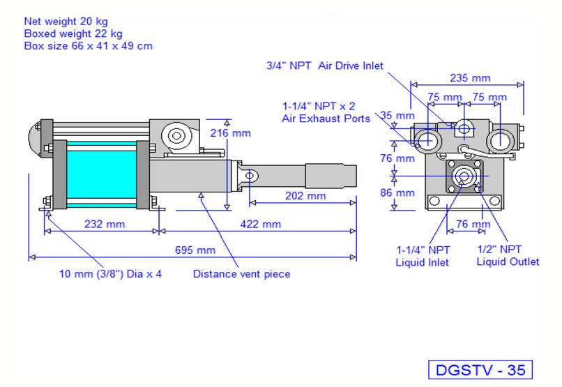HD Tech - Komplettanlage Flüssigkeiten - HSL0217-DGSTV-35 - 300 bar - Massblatt