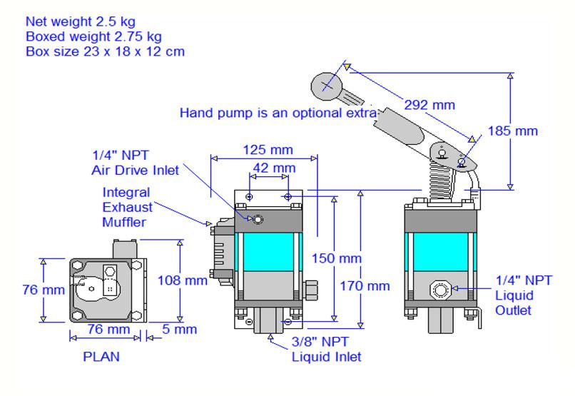 HD Tech - Komplettanlage Flüssigkeiten - J23204-MSHP-21-4RS-HD-160 bar - Massblatt