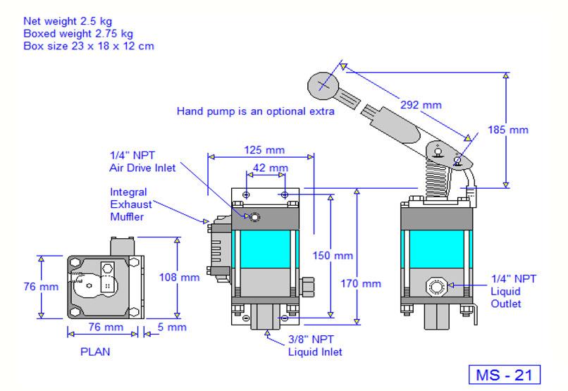 HD Tech - Komplettanlage Flüssigkeiten - MS-21-160 bar - Massblatt
