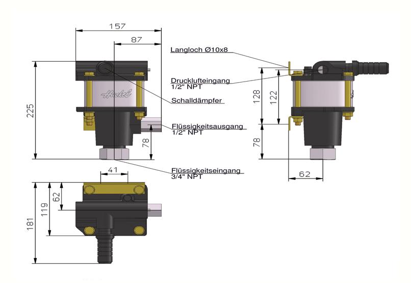 HD Tech - Produkte - Pumpen - 4B-21 - Massblatt