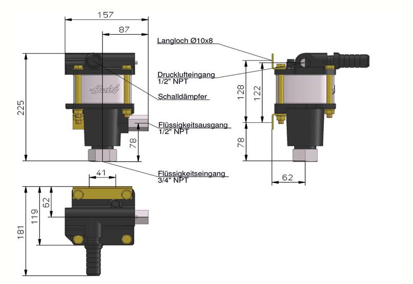 HD Tech - Produkte - Pumpen - 4B-25 - Massblatt