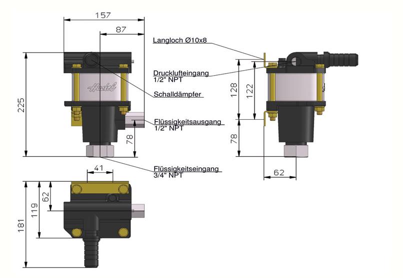 HD Tech - Produkte - Pumpen - 4B-30 - Massblatt