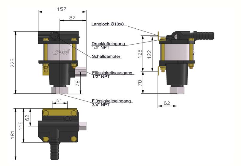 HD Tech - Produkte - Pumpen - 4B-55 - Massblatt