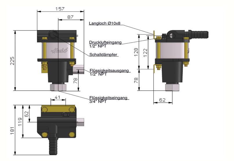 HD Tech - Produkte - Pumpen - 4B-75 - Massblatt