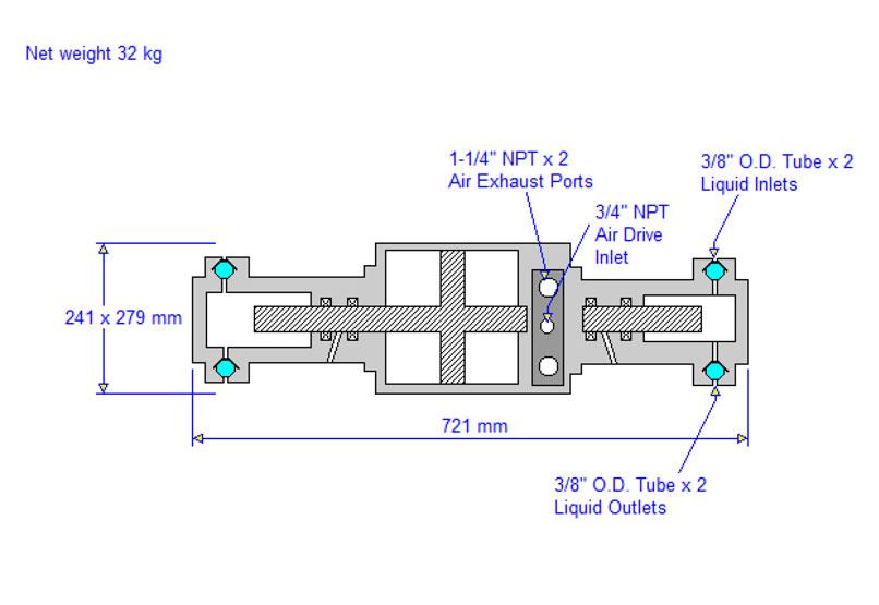 HD tech Produkte Pumpen 8HSFD-225 Massblatt