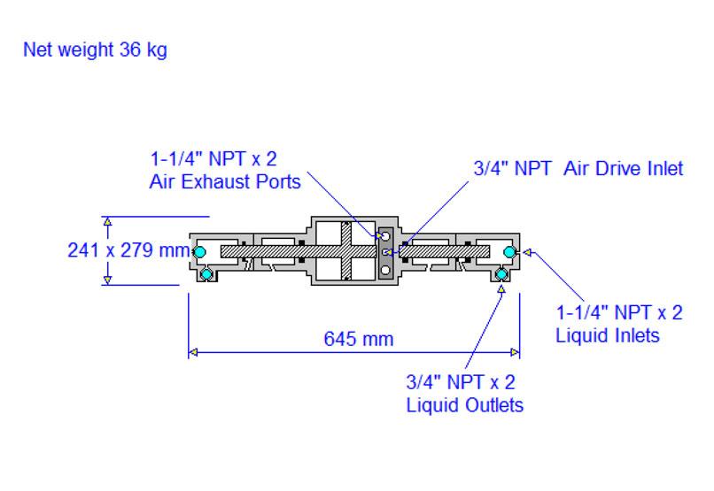 HD tech Produkte Pumpen 8SFD-25 Massblatt