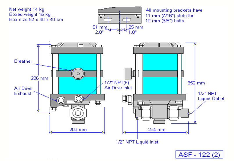 HD Tech - Produkte - Pumpen - ASF-122 - Massblatt