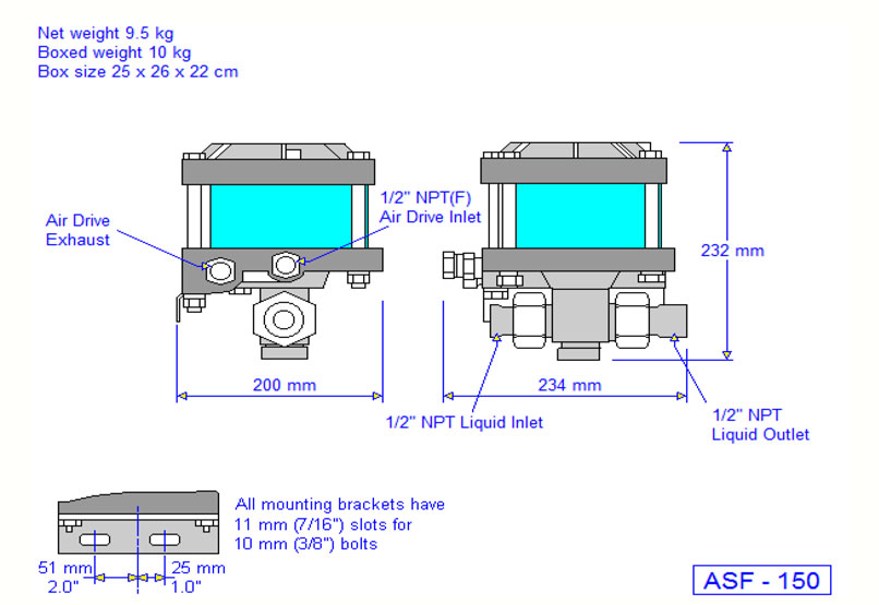 HD Tech - Produkte - Pumpen - ASF-150 - Massblatt