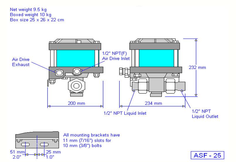 HD Tech - Produkte - Pumpen - ASF-25 - Massblatt