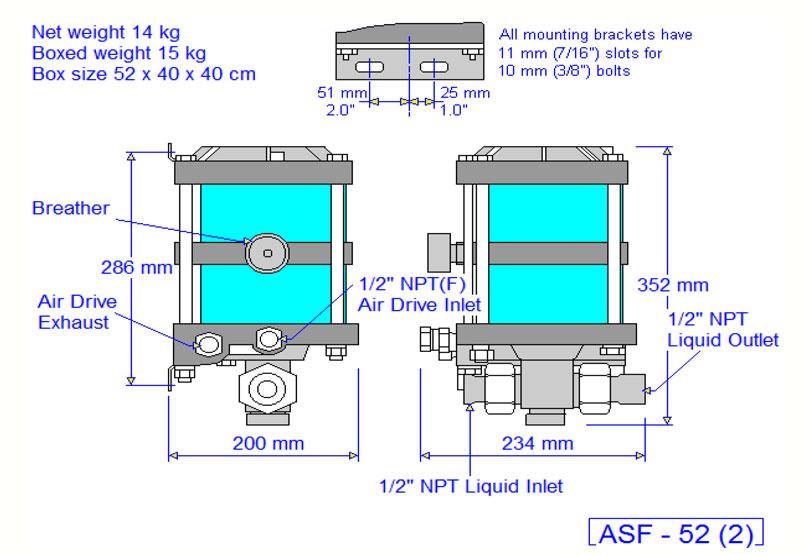 HD Tech - Produkte - Pumpen - ASF-52 - Massblatt