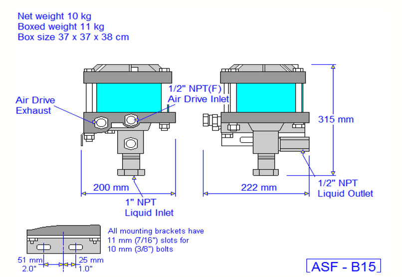 HD Tech - Produkte - Pumpen - ASF-B15 - Massblatt