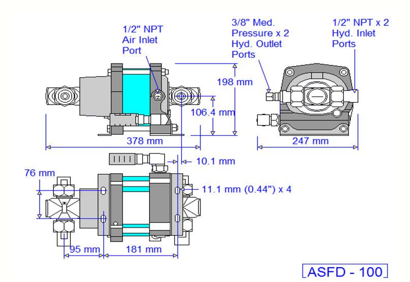 HD Tech - Produkte - Pumpen - ASFD-100 - Massblatt