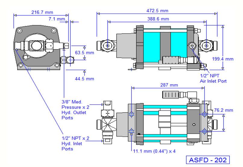 HD Tech - Produkte - Pumpen - ASFD-202 - Massblatt