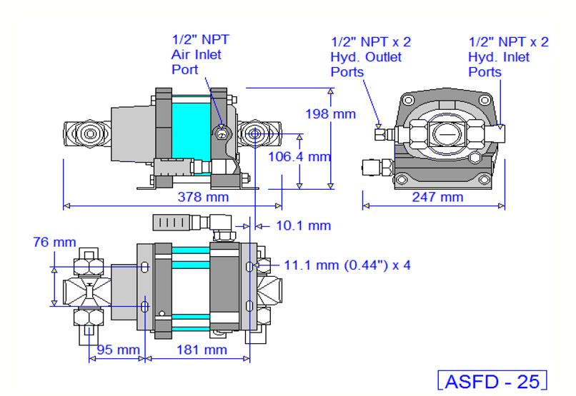 HD Tech - Produkte - Pumpen - ASFD-25 - Massblatt