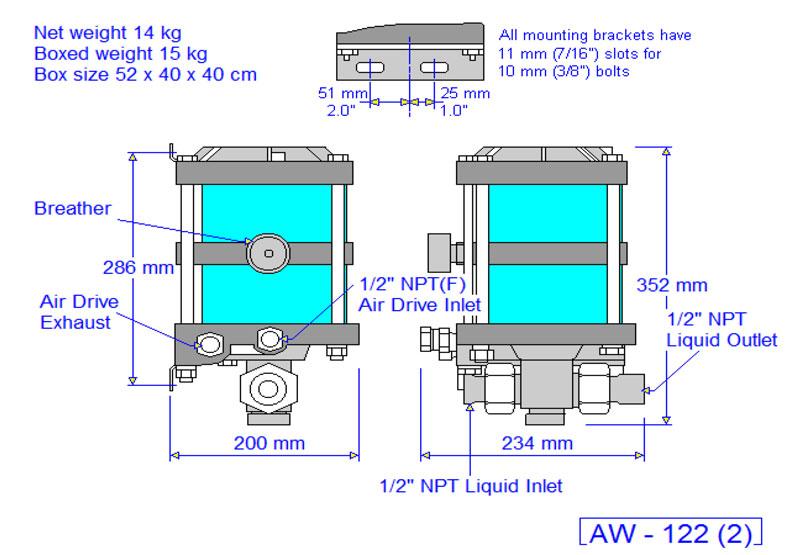 HD Tech - Produkte - Pumpen - AW-122 - Massblatt