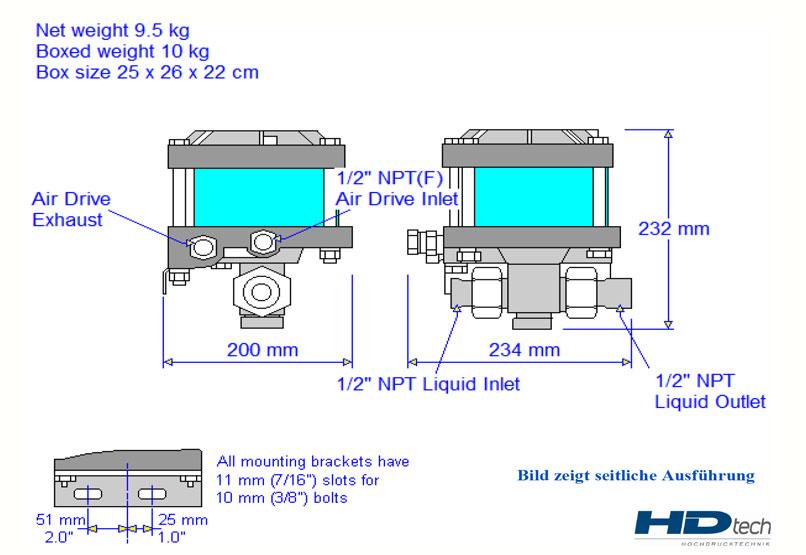 HD Tech - Produkte - Pumpen - AW-B150 - Massblatt