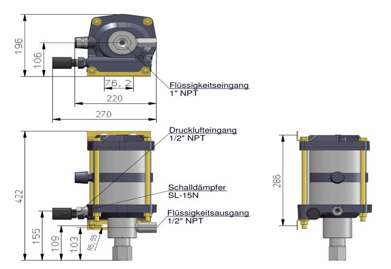 HD Tech - Produkte - Pumpen - AW-B22 - Massblatt