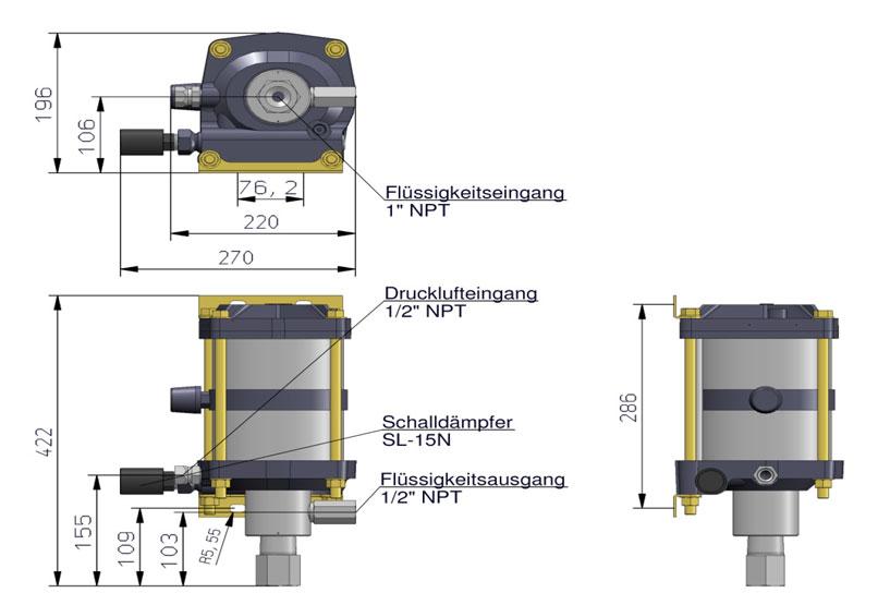 HD Tech - Produkte - Pumpen - AW-B32 - Massblatt
