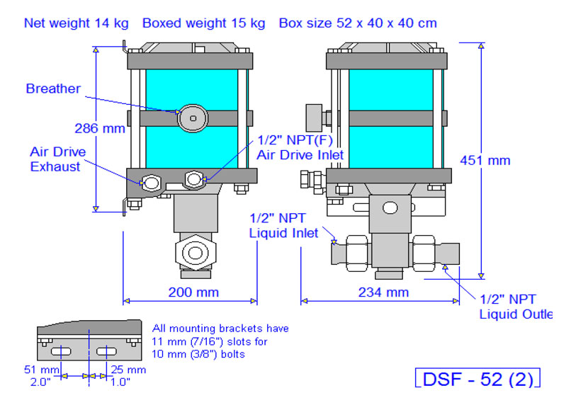 HD Tech - Produkte - Pumpen - DSF-52 - Massblatt
