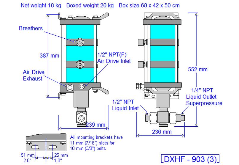 HD tech Produkte Pumpen DSXHF-903 Massblatt