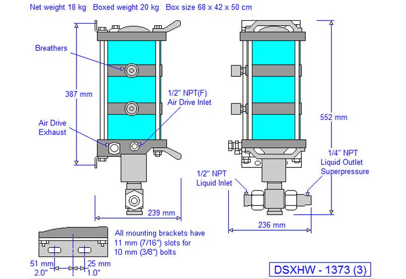 HD tech Produkte Pumpen DSXHW-1373 Massblatt