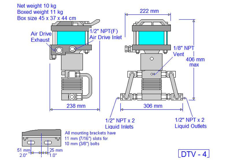 HD tech Produkte Pumpen DTV-4 Massblatt
