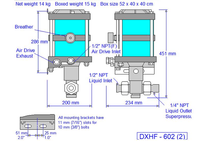 HD tech Produkte Pumpen DXHF-B602 Massblatt
