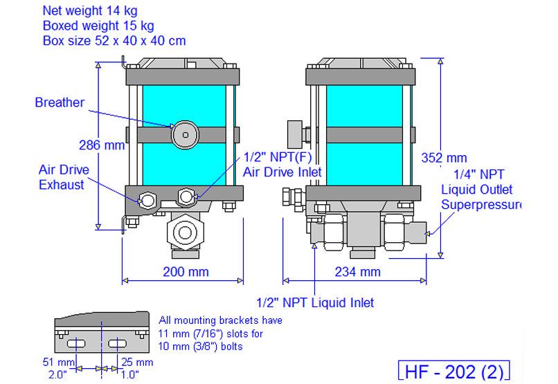 HD tech Produkte Pumpen HF-202 Massblatt