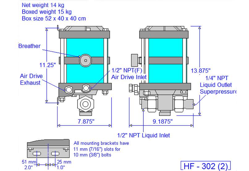 HD tech Produkte Pumpen HF-302 Massblatt