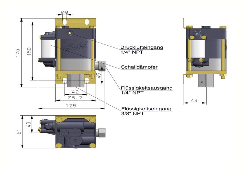 HD Tech - Produkte - Pumpen - M-110 - Massblatt