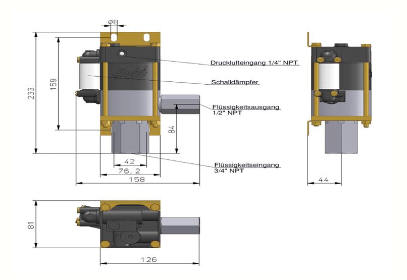 HD Tech - Produkte - Pumpen - M-12 - Massblatt